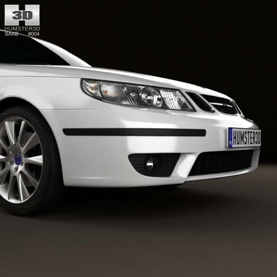 Saab 9-5 Aero vagn 2005 royalty-free 3d model - Preview no. 10