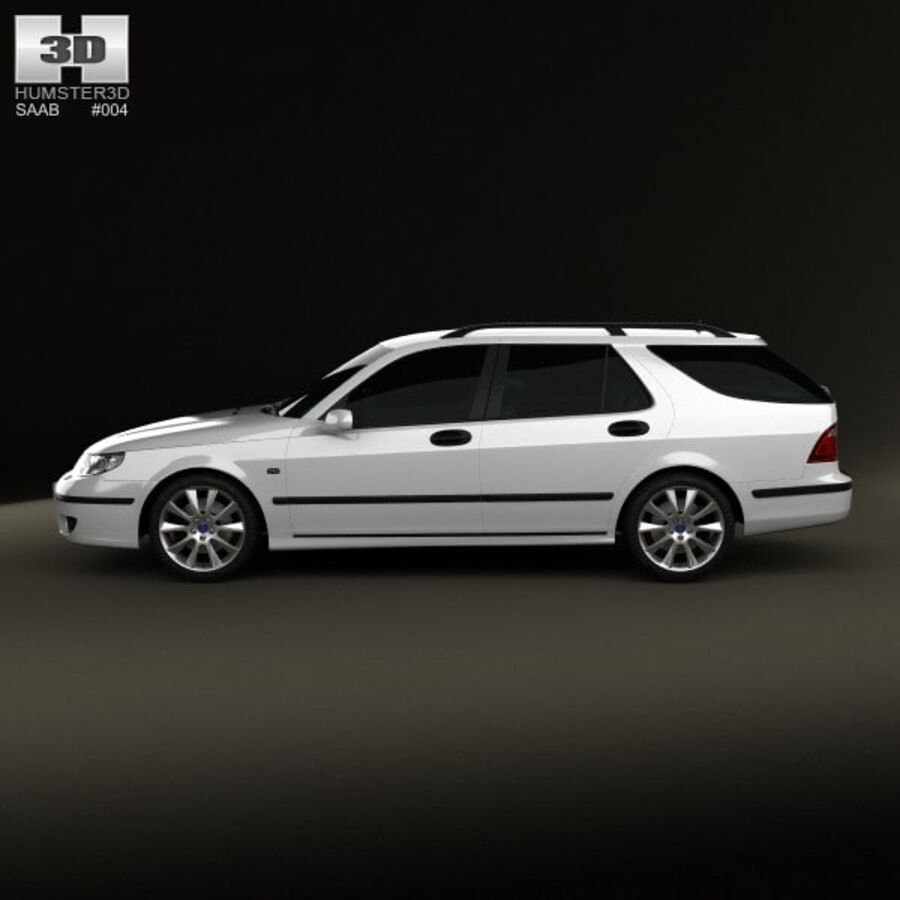 Saab 9-5 Aero vagn 2005 royalty-free 3d model - Preview no. 5