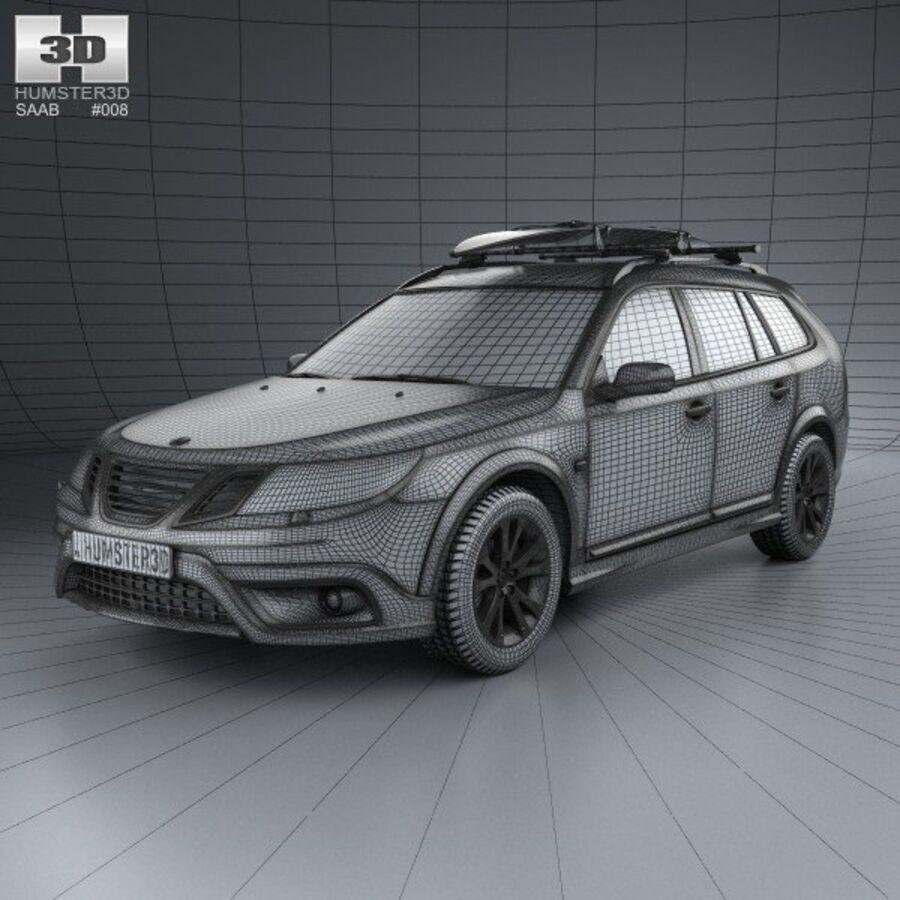 Saab 9-3 X 2009 royalty-free 3d model - Preview no. 3