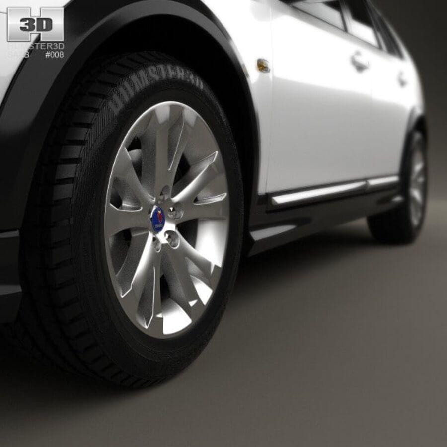 Saab 9-3 X 2009 royalty-free 3d model - Preview no. 8