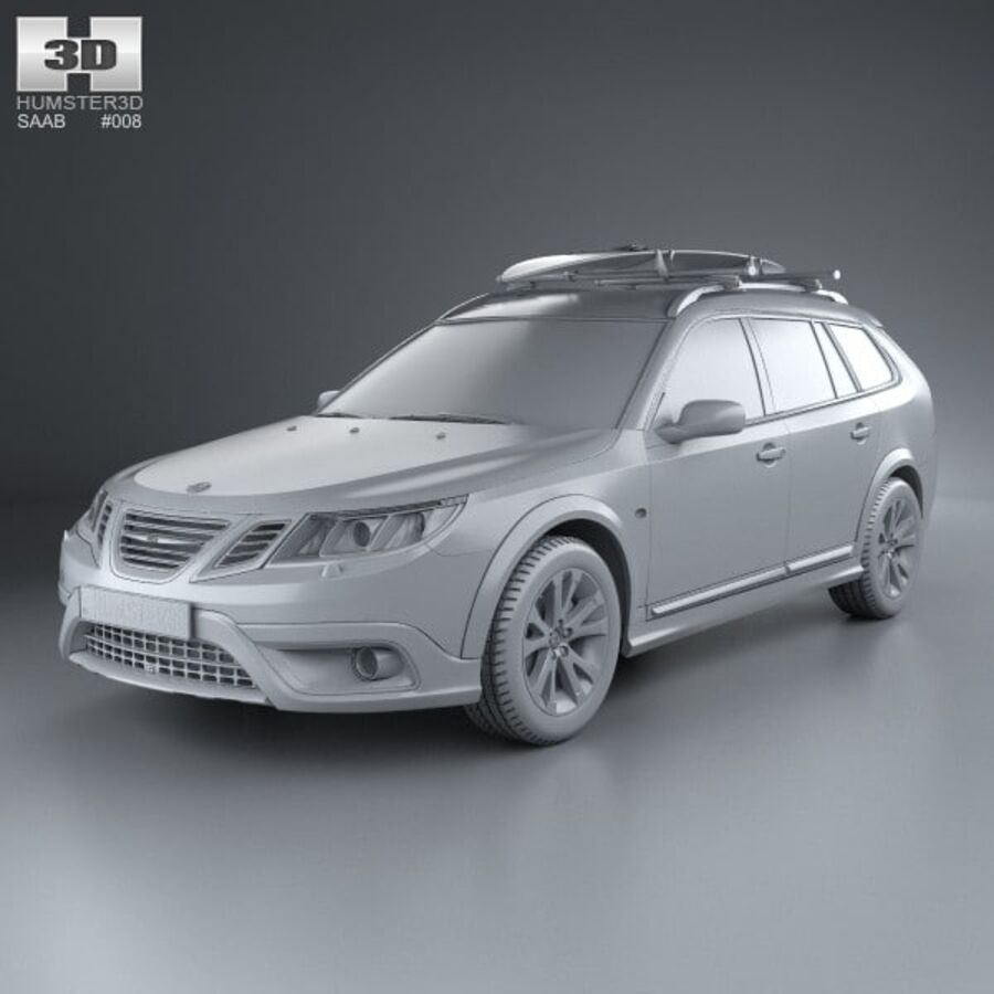 Saab 9-3 X 2009 royalty-free 3d model - Preview no. 11