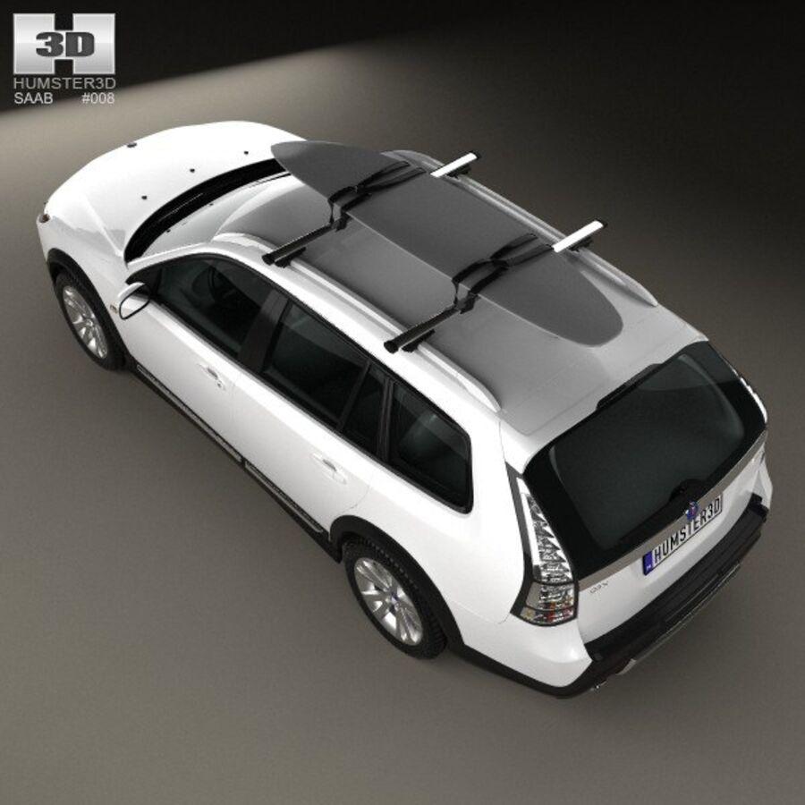 Saab 9-3 X 2009 royalty-free 3d model - Preview no. 9