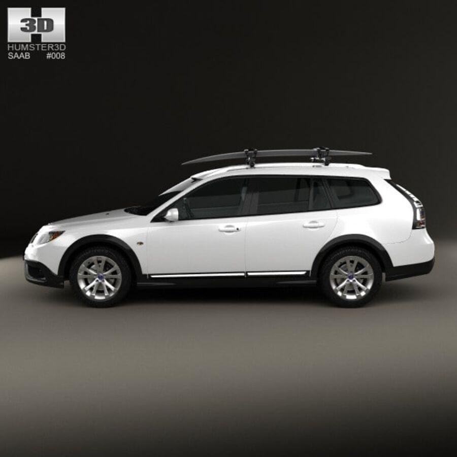 Saab 9-3 X 2009 royalty-free 3d model - Preview no. 5