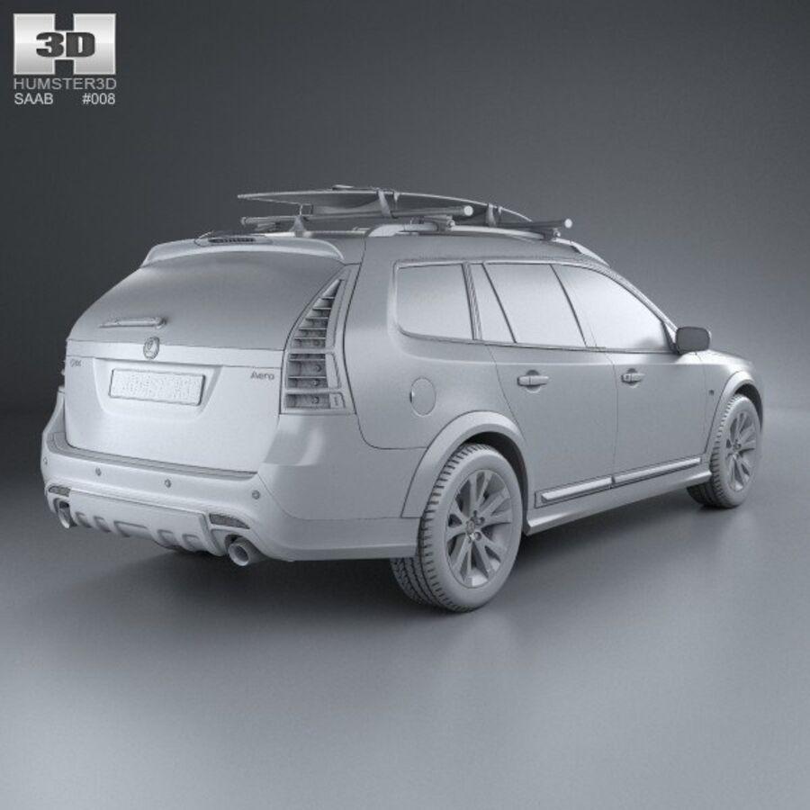Saab 9-3 X 2009 royalty-free 3d model - Preview no. 12