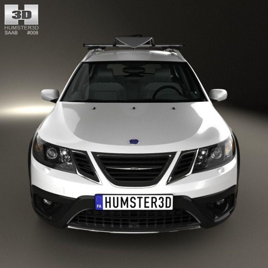 Saab 9-3 X 2009 royalty-free 3d model - Preview no. 10