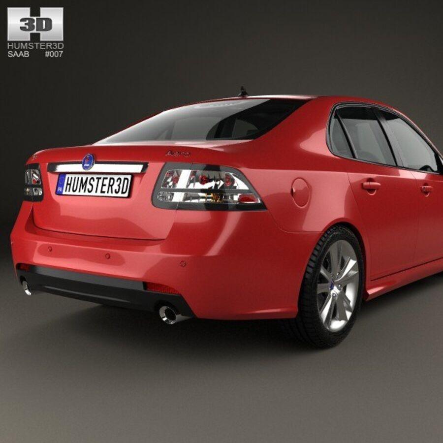 Saab 9-3 Sport Sedan 2008 royalty-free 3d model - Preview no. 7