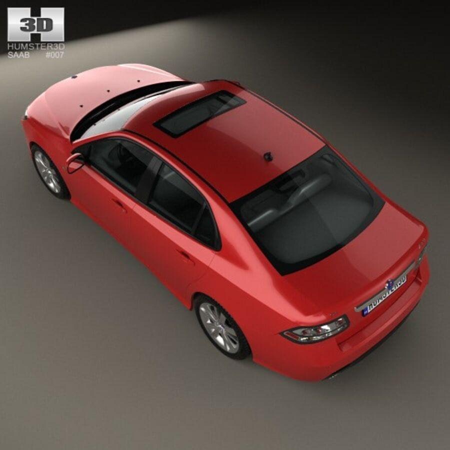 Saab 9-3 Sport Sedan 2008 royalty-free 3d model - Preview no. 9