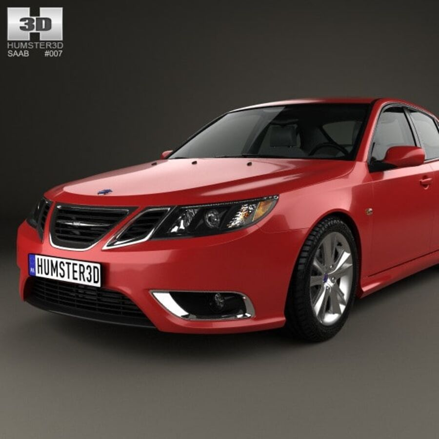 Saab 9-3 Sport Sedan 2008 royalty-free 3d model - Preview no. 6