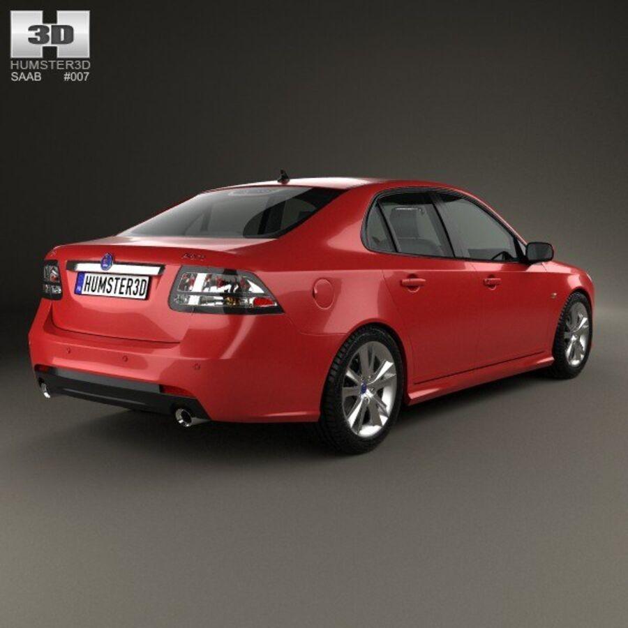 Saab 9-3 Sport Sedan 2008 royalty-free 3d model - Preview no. 2