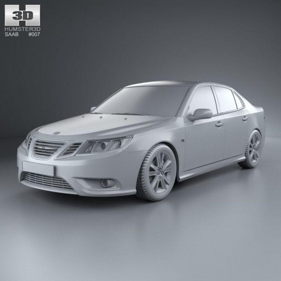 Saab 9-3 Sport Sedan 2008 royalty-free 3d model - Preview no. 11