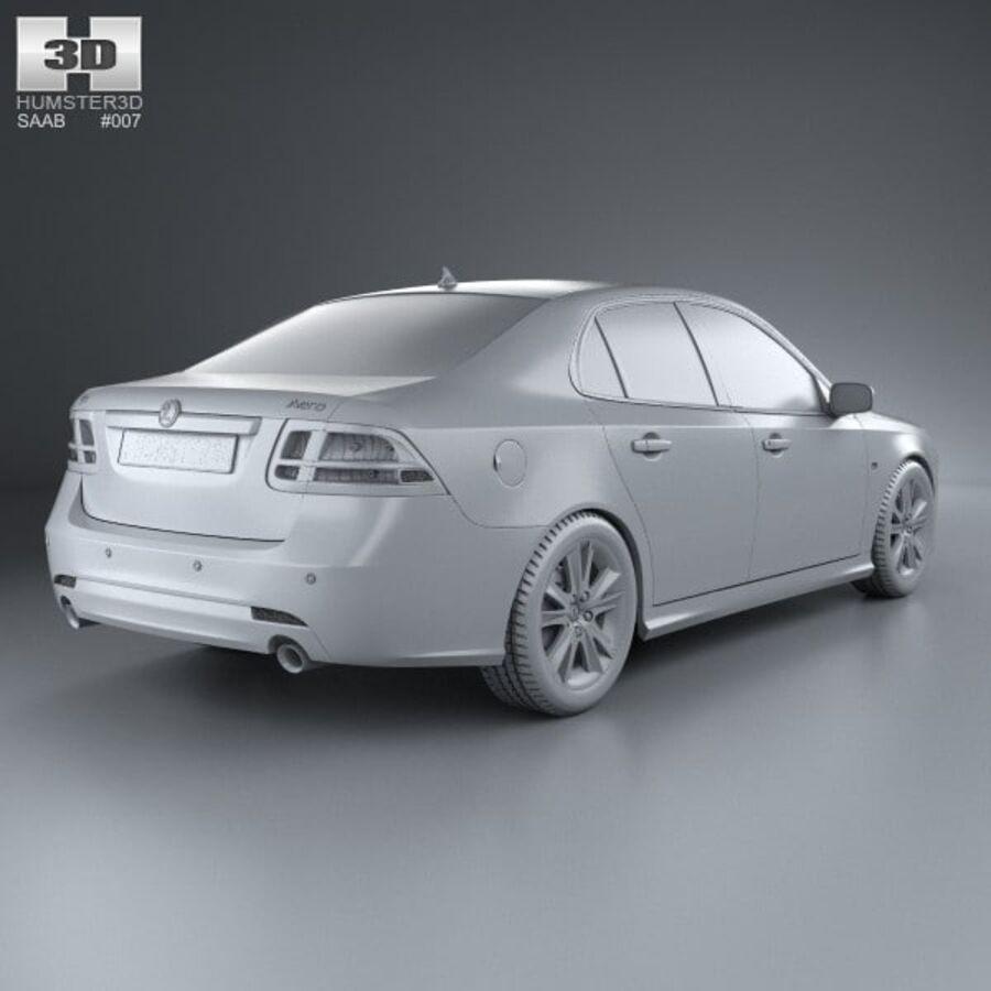 Saab 9-3 Sport Sedan 2008 royalty-free 3d model - Preview no. 12