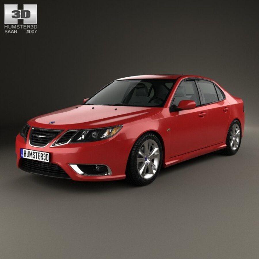 Saab 9-3 Sport Sedan 2008 royalty-free 3d model - Preview no. 1