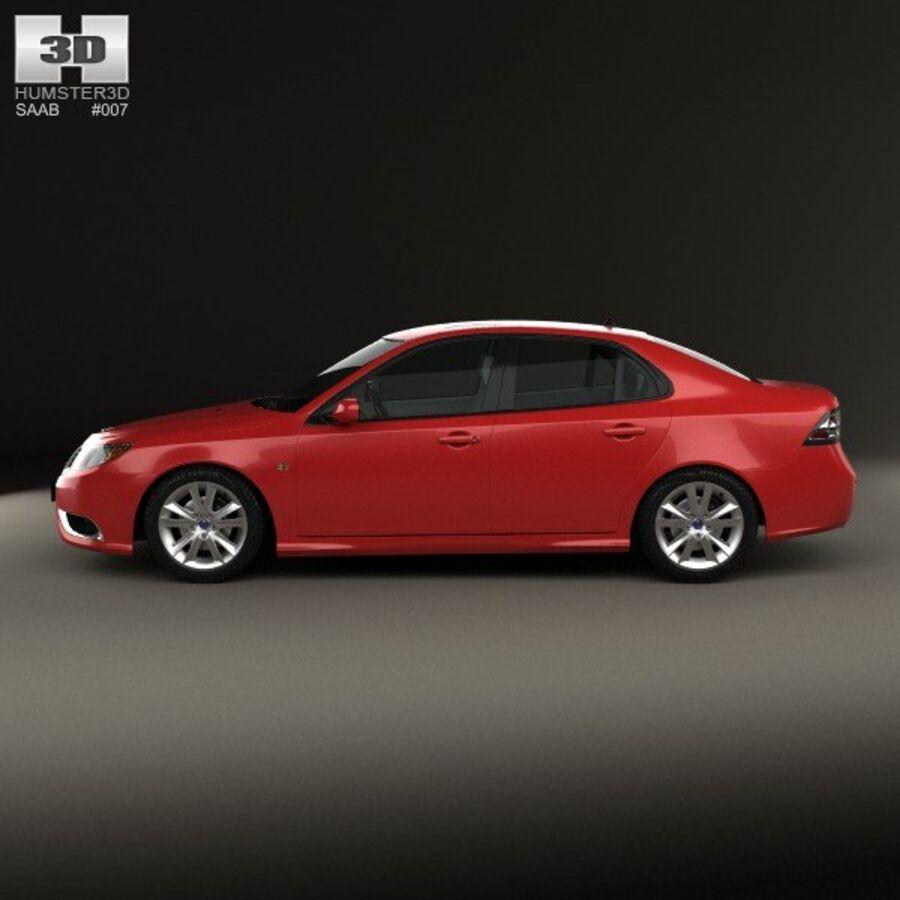 Saab 9-3 Sport Sedan 2008 royalty-free 3d model - Preview no. 5
