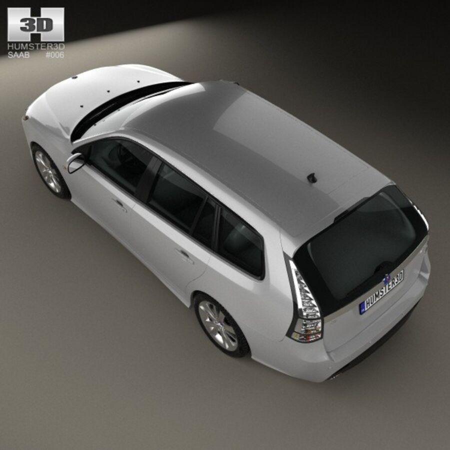 サーブ9-3スポーツコンビ2008 royalty-free 3d model - Preview no. 9