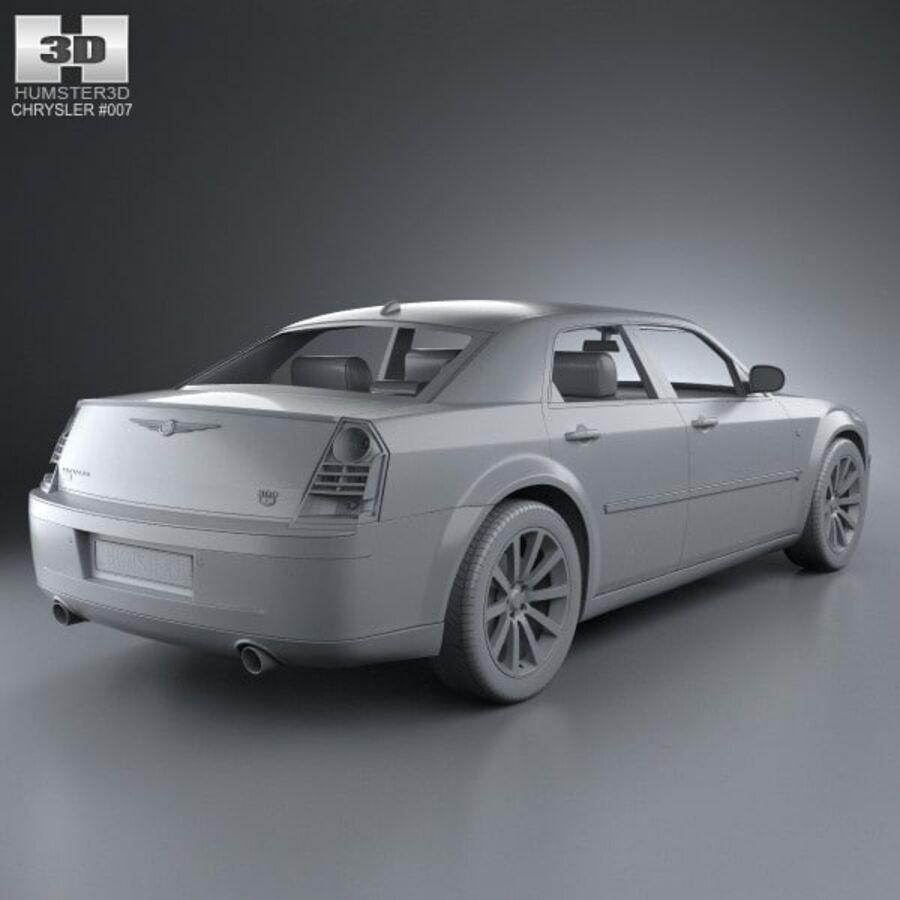 Chrysler 300C Limousine 2009 royalty-free 3d model - Preview no. 12
