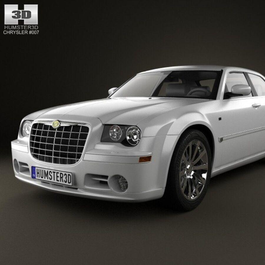 Chrysler 300C Limousine 2009 royalty-free 3d model - Preview no. 6