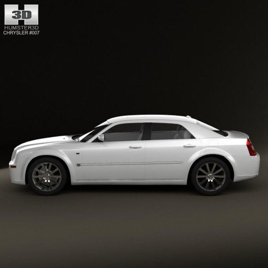 Chrysler 300C Limousine 2009 royalty-free 3d model - Preview no. 5