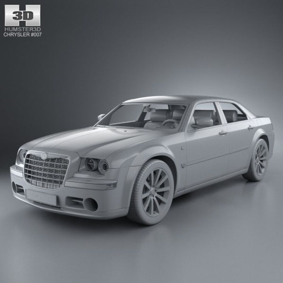 Chrysler 300C Limousine 2009 royalty-free 3d model - Preview no. 11
