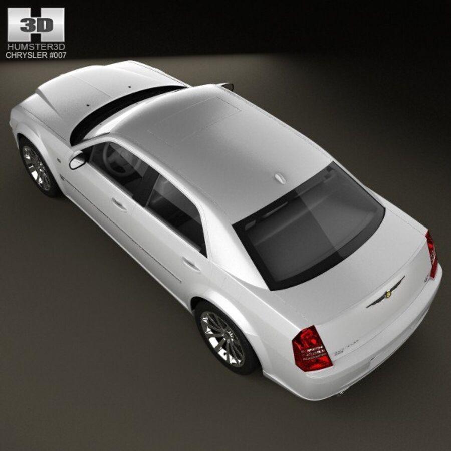 Chrysler 300C Limousine 2009 royalty-free 3d model - Preview no. 9