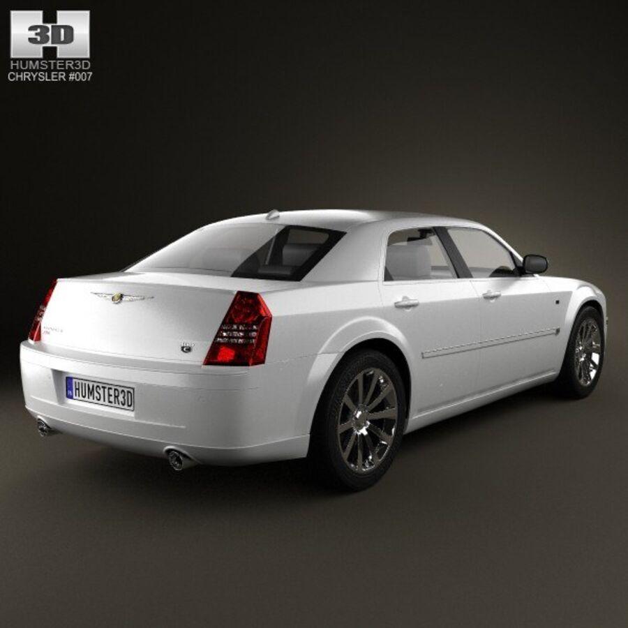 Chrysler 300C Limousine 2009 royalty-free 3d model - Preview no. 2