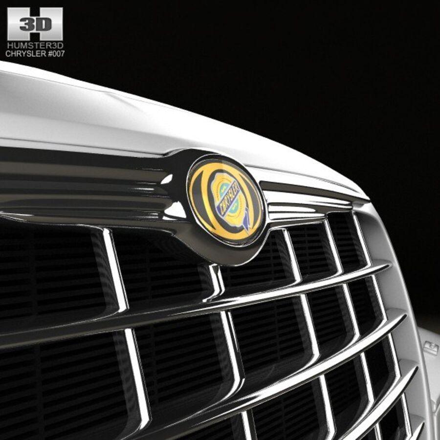 Chrysler 300C Limousine 2009 royalty-free 3d model - Preview no. 10