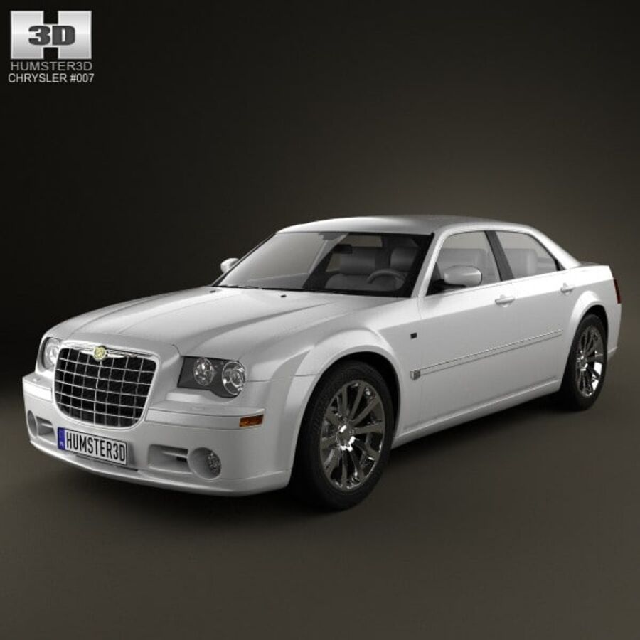 Chrysler 300C Limousine 2009 royalty-free 3d model - Preview no. 1