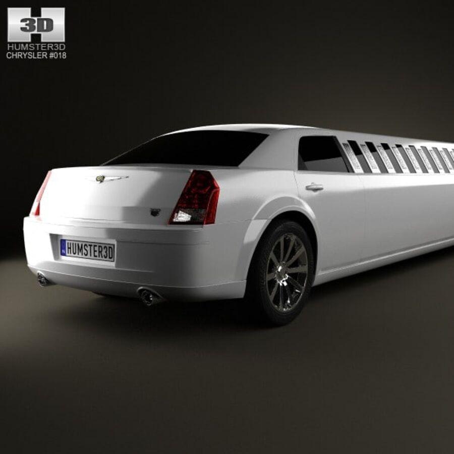 Chrysler 300C Limousine 2009 royalty-free 3d model - Preview no. 7