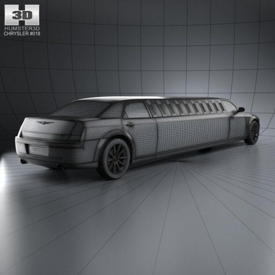 Chrysler 300C Limousine 2009 royalty-free 3d model - Preview no. 4
