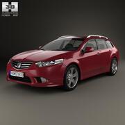 혼다 어코드 (CW) 투어러 Type S 2011 3d model