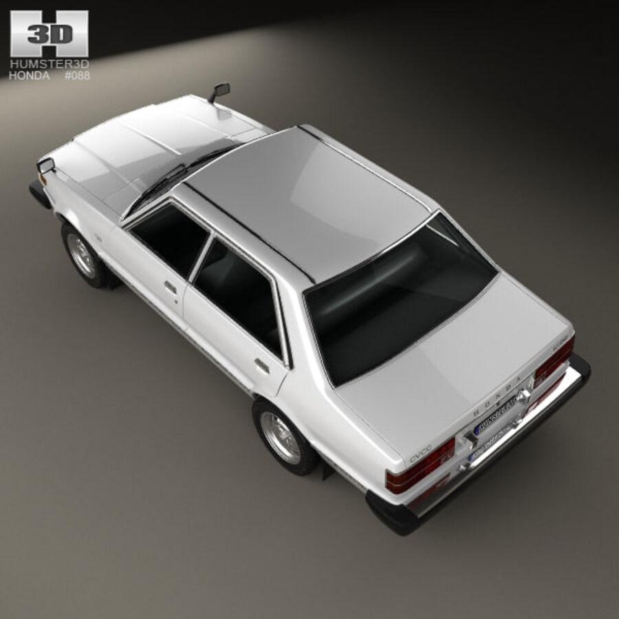 혼다 어코드 세단 1977 royalty-free 3d model - Preview no. 9