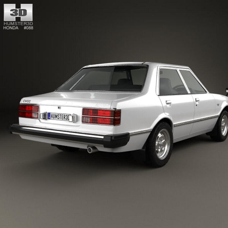 혼다 어코드 세단 1977 royalty-free 3d model - Preview no. 7