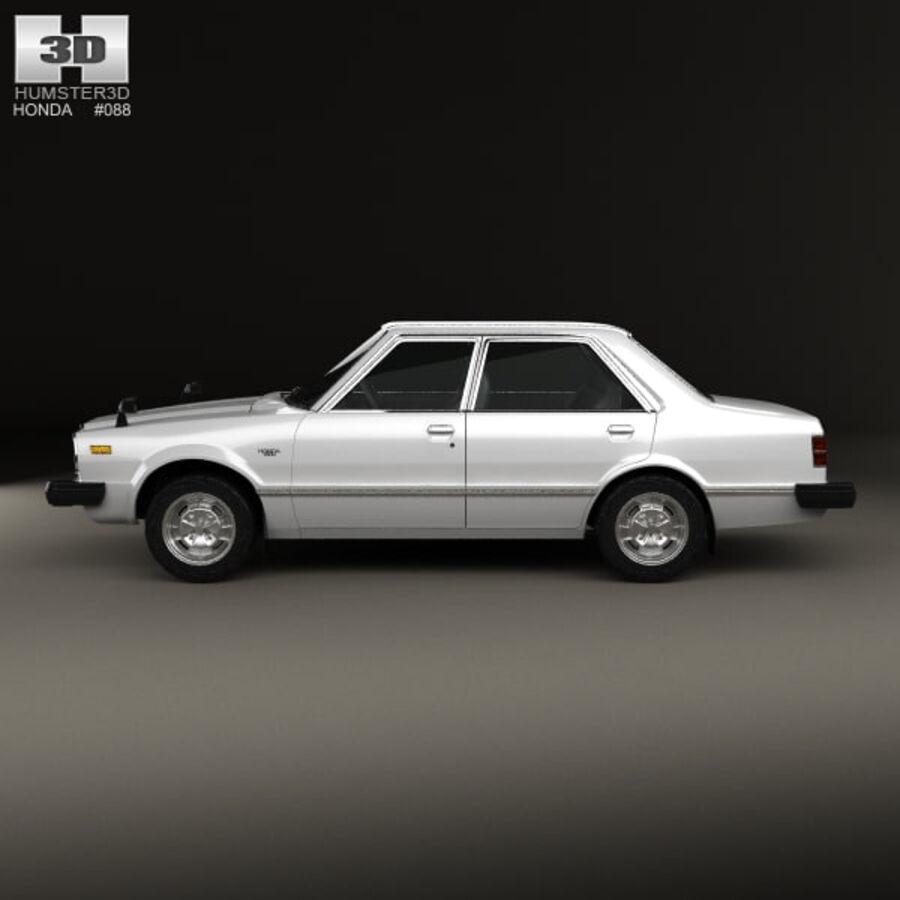 혼다 어코드 세단 1977 royalty-free 3d model - Preview no. 5