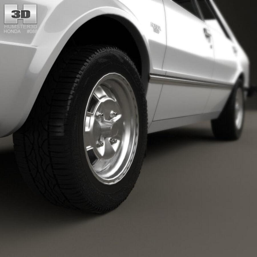 혼다 어코드 세단 1977 royalty-free 3d model - Preview no. 8