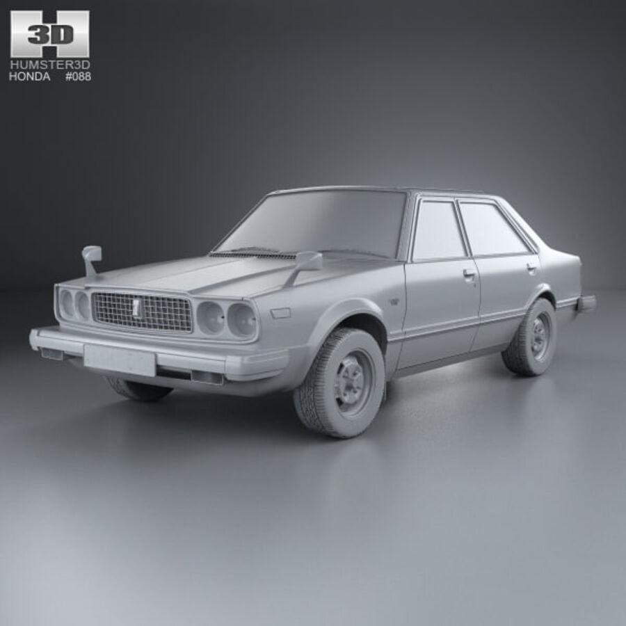 혼다 어코드 세단 1977 royalty-free 3d model - Preview no. 11