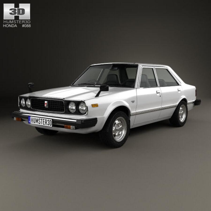 혼다 어코드 세단 1977 royalty-free 3d model - Preview no. 1