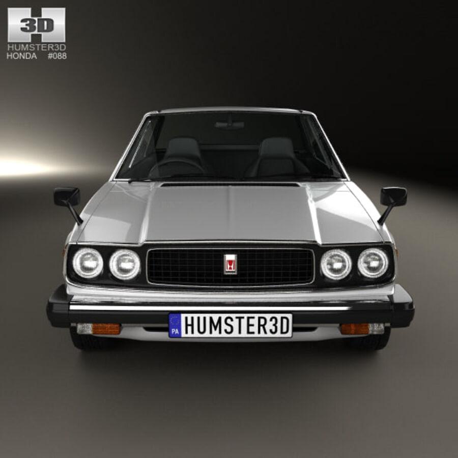 혼다 어코드 세단 1977 royalty-free 3d model - Preview no. 10