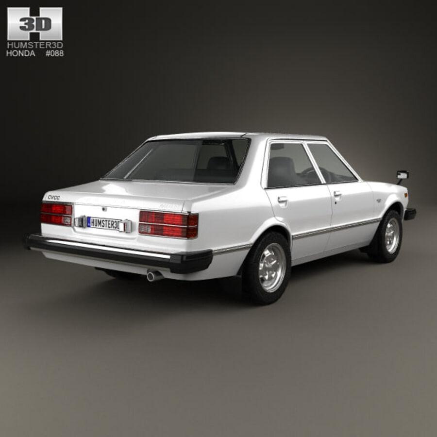 혼다 어코드 세단 1977 royalty-free 3d model - Preview no. 2