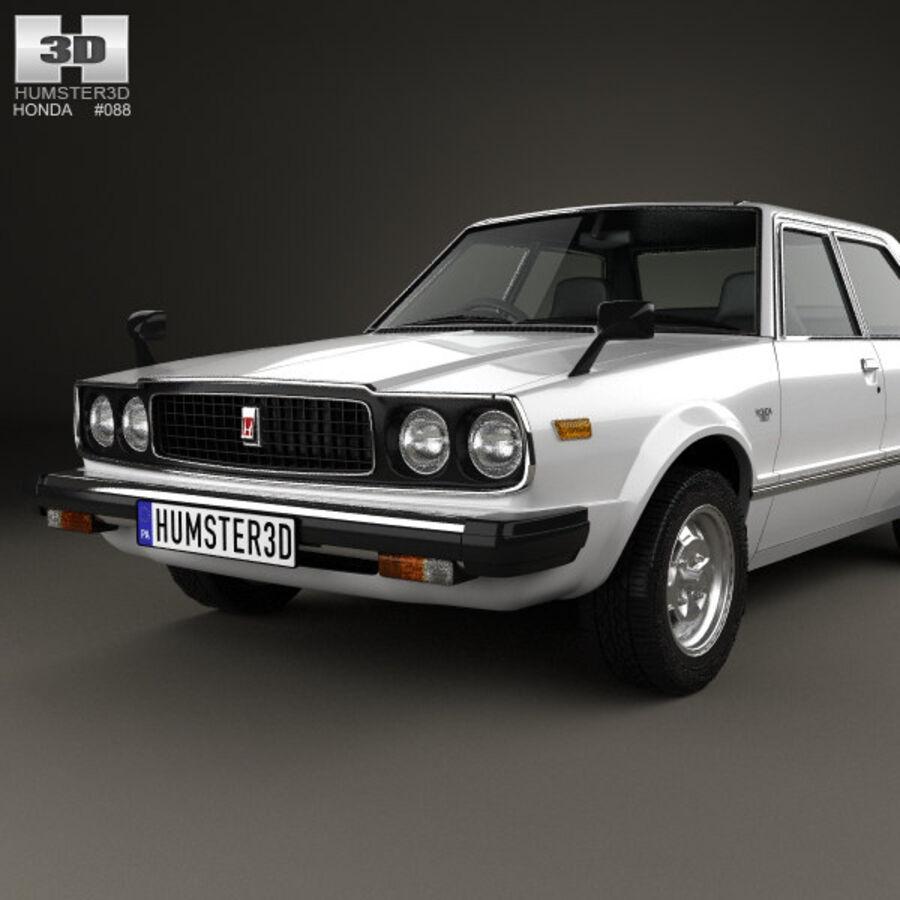 혼다 어코드 세단 1977 royalty-free 3d model - Preview no. 6