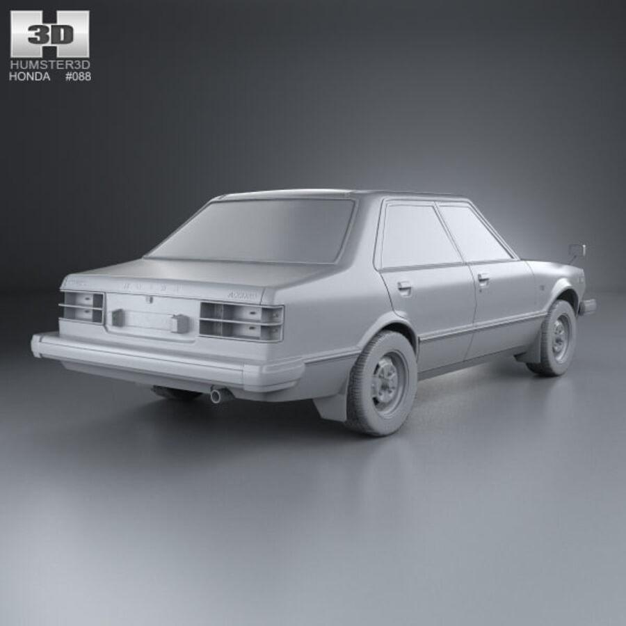 혼다 어코드 세단 1977 royalty-free 3d model - Preview no. 12