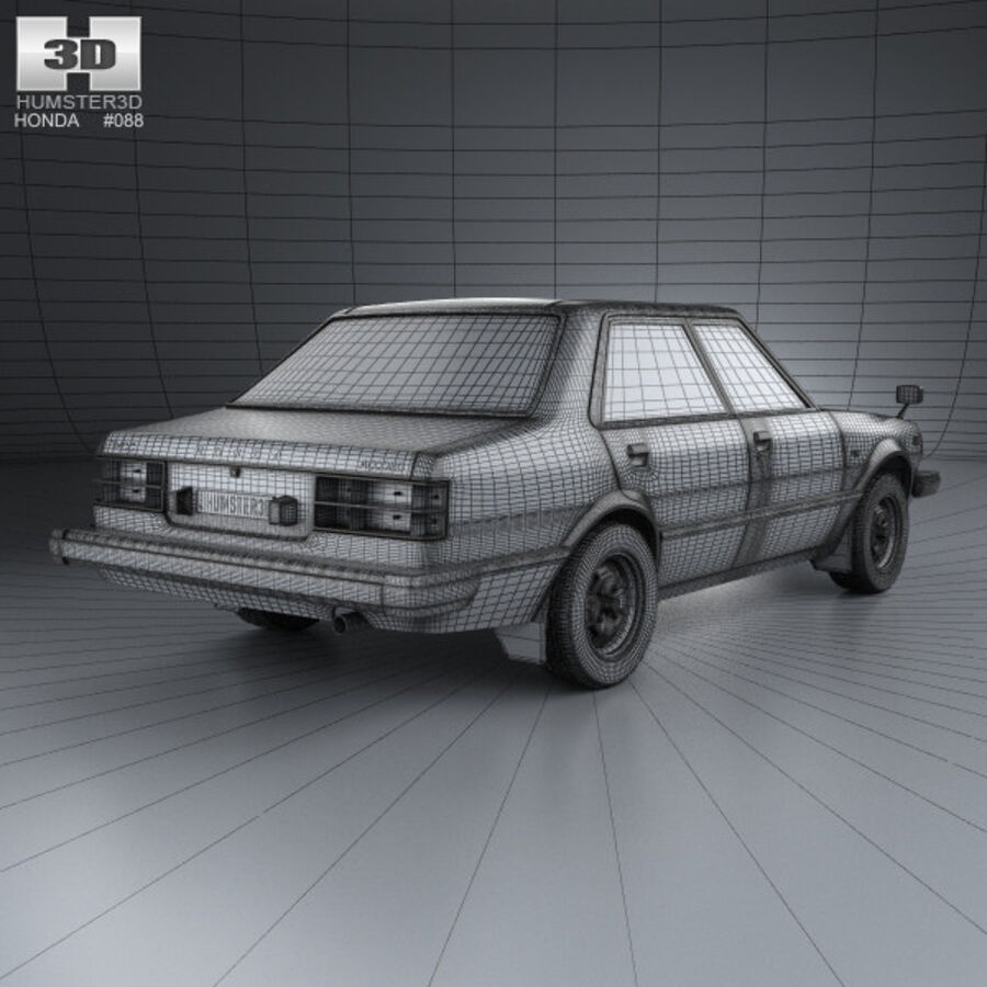 혼다 어코드 세단 1977 royalty-free 3d model - Preview no. 4