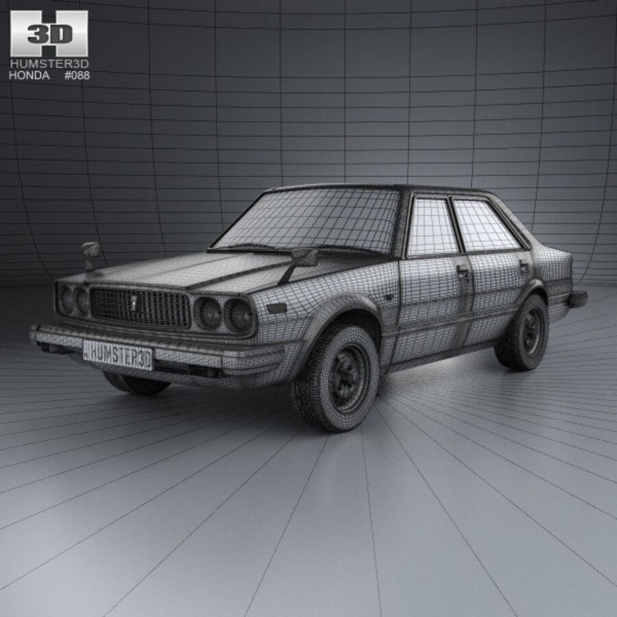 혼다 어코드 세단 1977 royalty-free 3d model - Preview no. 3