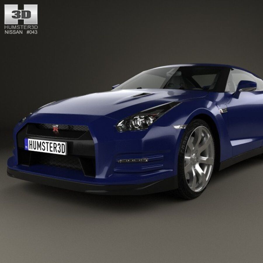 Nissan GT-R (R35) 2013 royalty-free 3d model - Preview no. 6
