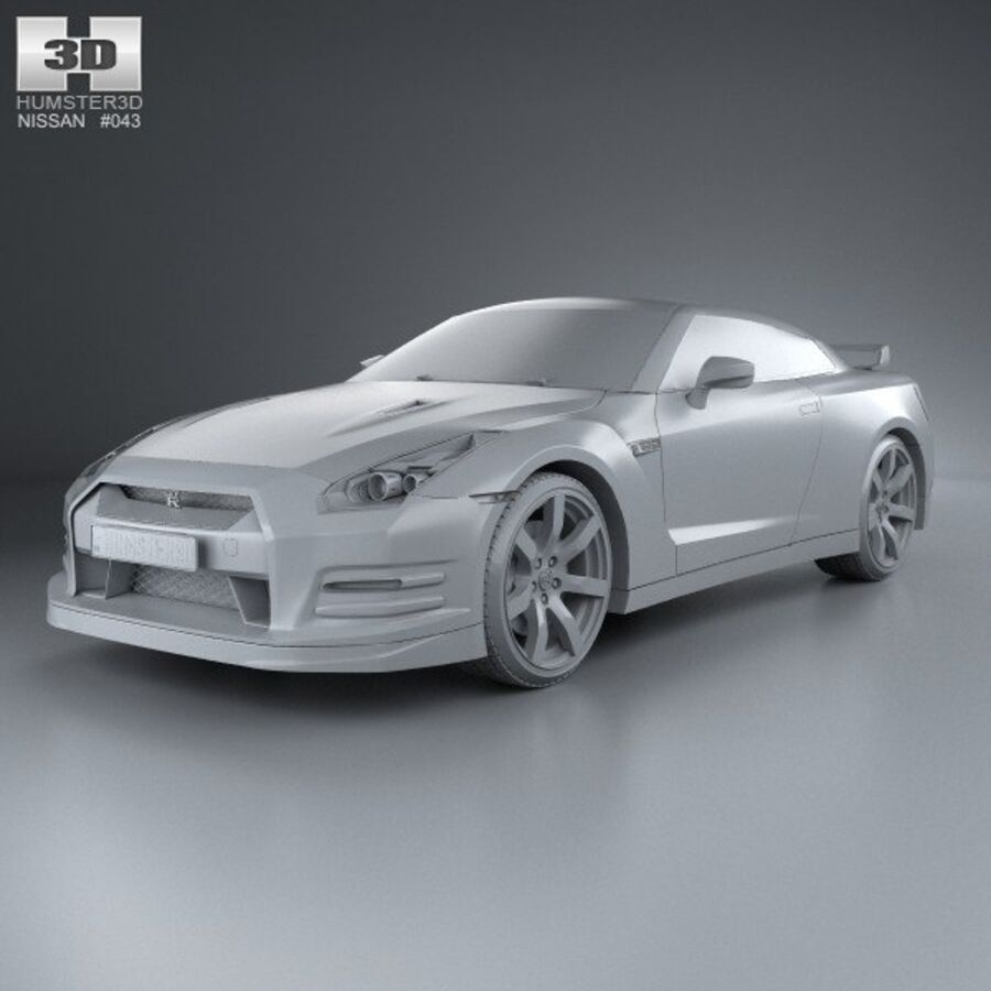Nissan GT-R (R35) 2013 royalty-free 3d model - Preview no. 11