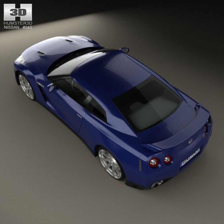 Nissan GT-R (R35) 2013 royalty-free 3d model - Preview no. 9