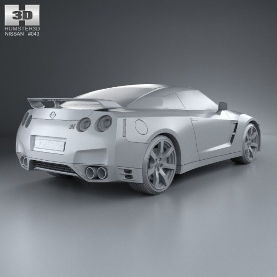 Nissan GT-R (R35) 2013 royalty-free 3d model - Preview no. 12