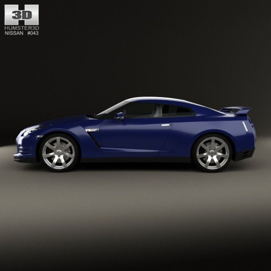 Nissan GT-R (R35) 2013 royalty-free 3d model - Preview no. 5