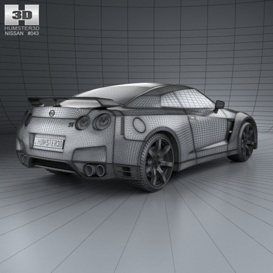 Nissan GT-R (R35) 2013 royalty-free 3d model - Preview no. 4