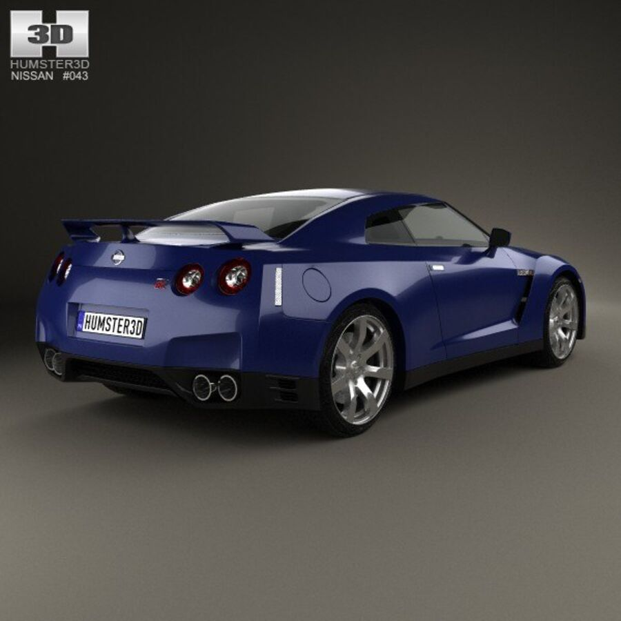 Nissan GT-R (R35) 2013 royalty-free 3d model - Preview no. 2