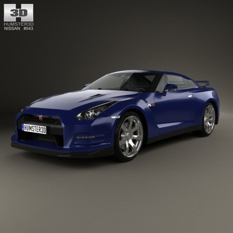 Nissan GT-R (R35) 2013 royalty-free 3d model - Preview no. 1