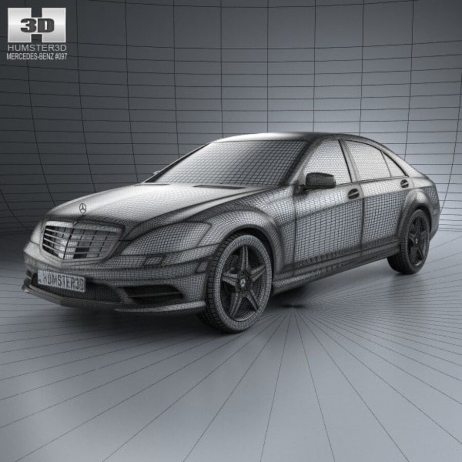 Mercedes-Benz S-Class (W221) 2012 royalty-free 3d model - Preview no. 3